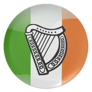 Irish glossy flag plate