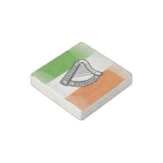 Irish glossy flag stone magnet
