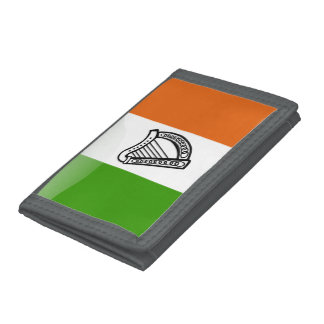 Irish glossy flag trifold wallets