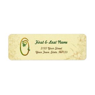 Irish Gold Monogram 0 Label