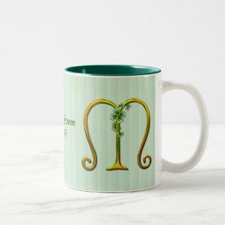 Irish Gold Monogram M Mugs