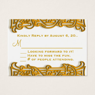 Irish Gold Monogram Wedding RSVP