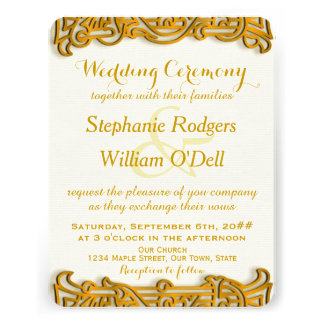 Irish Gold Wedding Invitation Personalized Invites