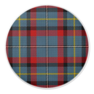 Irish Grandeur Clan MacNamara Tartan Plaid Ceramic Knob