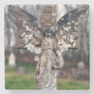 Irish Graveyard Angel, Dingle, Kerry Ireland Stone Coaster