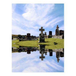 irish graveyard postcard