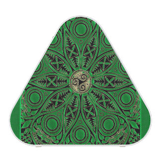 Irish Green Celtic Triskele Mandala