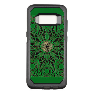 Irish Green Celtic Triskele Mandala OtterBox Commuter Samsung Galaxy S8 Case