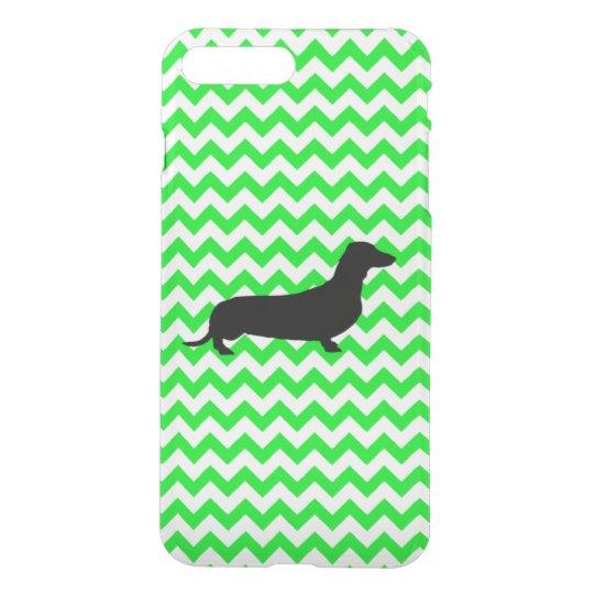 Irish Green Chevron with Dachshund iPhone 8 Plus/7 Plus Case
