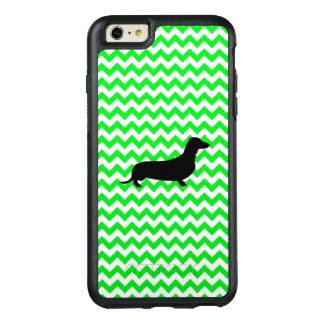 Irish Green Chevron with Dachshund OtterBox iPhone 6/6s Plus Case