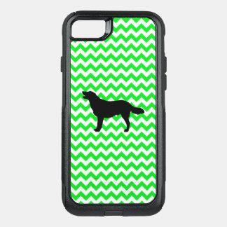 Irish Green Chevron with Golden Silhouette OtterBox Commuter iPhone 8/7 Case