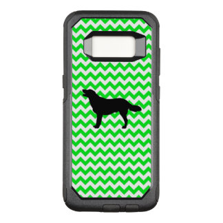 Irish Green Chevron with Golden Silhouette OtterBox Commuter Samsung Galaxy S8 Case