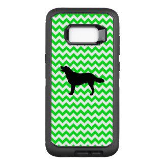 Irish Green Chevron with Golden Silhouette OtterBox Defender Samsung Galaxy S8+ Case