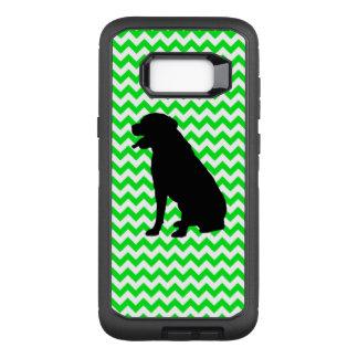 Irish Green Chevron with Lab Silhouette OtterBox Defender Samsung Galaxy S8+ Case