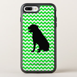 Irish Green Chevron with Lab Silhouette OtterBox Symmetry iPhone 8 Plus/7 Plus Case