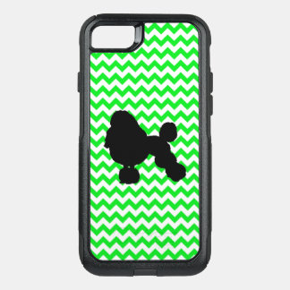 Irish Green Chevron with Poodle Silhouette OtterBox Commuter iPhone 8/7 Case