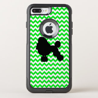 Irish Green Chevron with Poodle Silhouette OtterBox Commuter iPhone 8 Plus/7 Plus Case