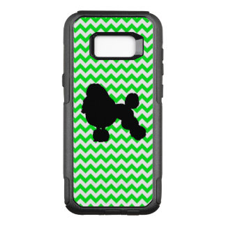 Irish Green Chevron with Poodle Silhouette OtterBox Commuter Samsung Galaxy S8+ Case