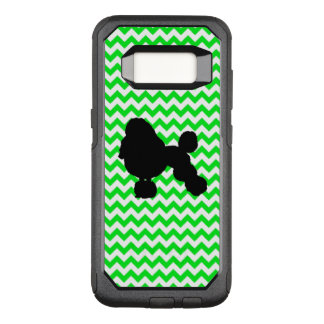 Irish Green Chevron with Poodle Silhouette OtterBox Commuter Samsung Galaxy S8 Case