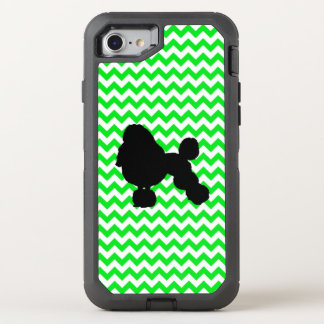 Irish Green Chevron with Poodle Silhouette OtterBox Defender iPhone 8/7 Case