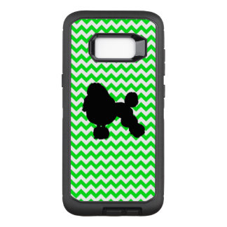 Irish Green Chevron with Poodle Silhouette OtterBox Defender Samsung Galaxy S8+ Case