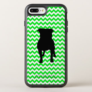 Irish Green Chevron with Pug Silhouette OtterBox Symmetry iPhone 8 Plus/7 Plus Case