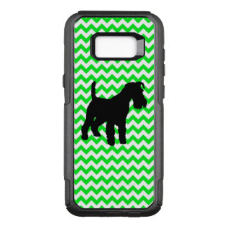 Irish Green Chevron with Schnauzer OtterBox Commuter Samsung Galaxy S8+ Case