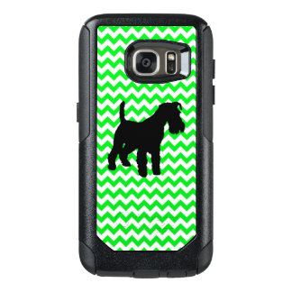 Irish Green Chevron with Schnauzer OtterBox Samsung Galaxy S7 Case