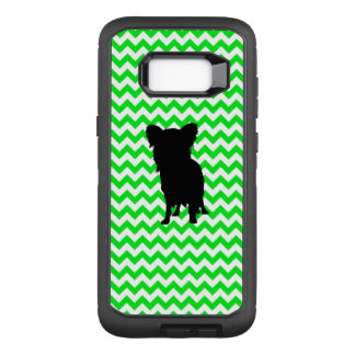 Irish Green Chevron with Yorkie Silhouette OtterBox Defender Samsung Galaxy S8+ Case