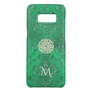 Irish Green Damask With White Gold  Celtic Knot Case-Mate Samsung Galaxy S8 Case