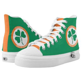Irish Green Heart Erin Go Bragh Ireland Forever High Tops