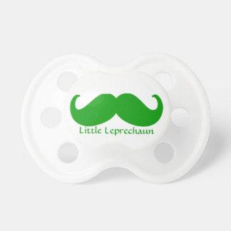 Irish green mustache and little leprechaun dummy