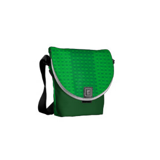 Irish Green on Green Stripes Rickshaw Messenger Commuter Bags