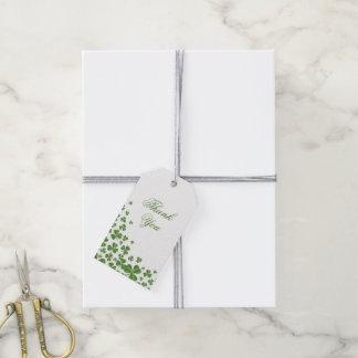 Irish Green Shamrock Wedding Gift Tags