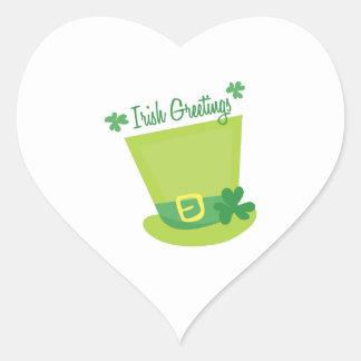 Irish Greetings Heart Sticker