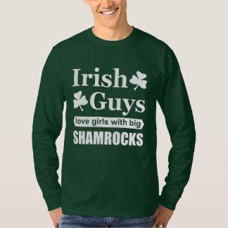 Irish Guys Love Girls With Big Shamrocks Funny T-Shirt