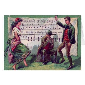 Irish Gypsy Wearing of The Green Jig Card