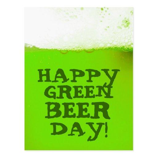 Irish Happy Green Beer Day Postcard