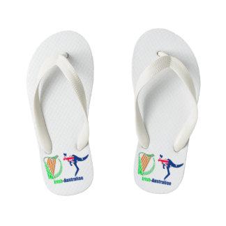 Irish Harp-Australia flag Flip-Flops-Kids Kid's Thongs