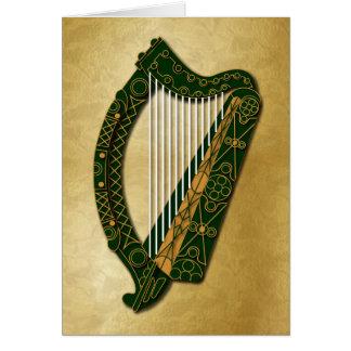 Irish Harp & Blessing - 1 Card
