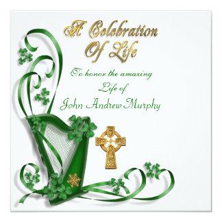 "Irish Harp ""Celebration of Life"" Card"