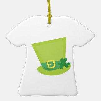 Irish Hat Double-Sided T-Shirt Ceramic Christmas Ornament