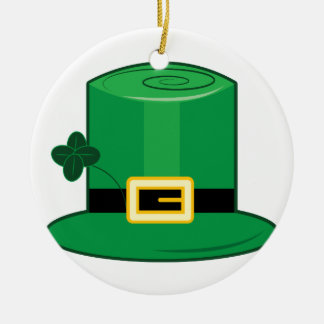 Irish Hat Round Ceramic Decoration