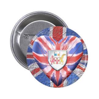 Irish Heart 6 Cm Round Badge