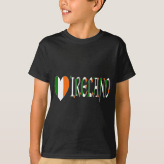 Irish Heart Flag & Word Ireland T-Shirt