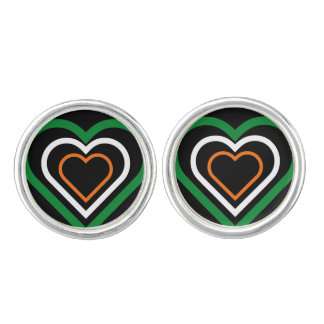 Irish Heart Ireland Flag-inspired Cufflinks