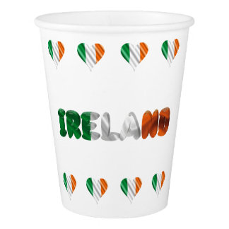 Irish heart paper cup