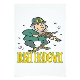 Irish Hodown 5x7 Paper Invitation Card