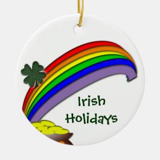 Irish Holidays Round Ceramic Decoration