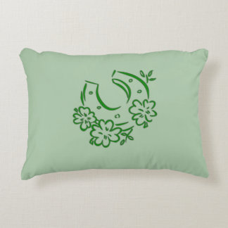 Irish Horseshoe Decorative Cushion